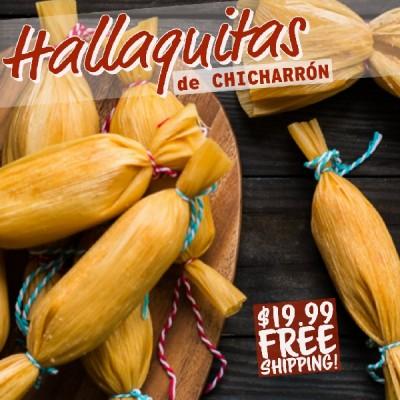 Hallaquitas de Chicharrón (Free Shipping)