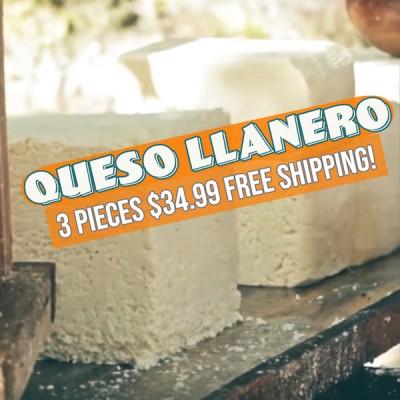 3 lbs Queso Llanero (Free Shipping)