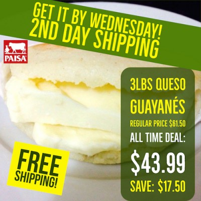 3 lbs Queso Guayanes (Free Shipping)