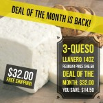 3 pcs Queso Llanero (Free Shipping)