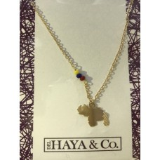 Necklace Small Venezuelan Map (Free Shipping)